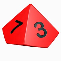 3d sided dice model