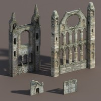 castle ruins modelled