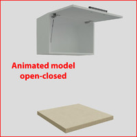 3d kitchen furnitures 60 cm model