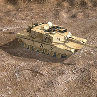 lightwave m1a2 tank desert woodland