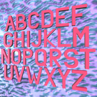 simple alphabet 3d 3ds