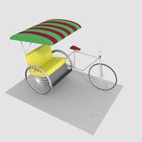 3d trishaw model