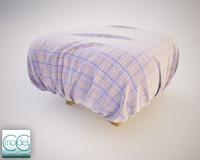 fabrics pouf 3d 3ds