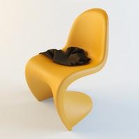 stool vitra panton 3d max