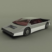 aston martin bulldog concept 3d model