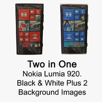 3d nokia lumia black white model