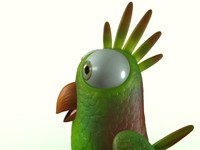 3d model cartoon bird formats