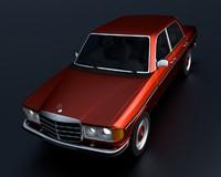 mercedes w123 3d model