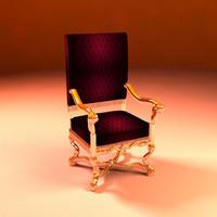 3d throne model