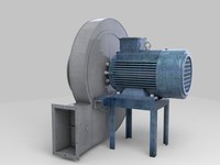 3d model fan blower blow