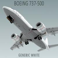 3d model boeing 737-500