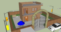villah house 3ds