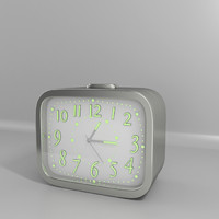 3d small alarm clock model
