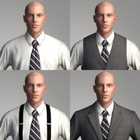 business people - characters 3d model