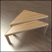 3d triangular coffee tables model