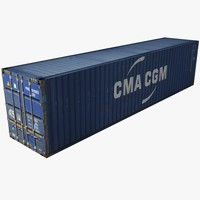 Rigged Shipping Freight Container