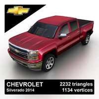 2014 chevrolet silverado pickup truck 3d model