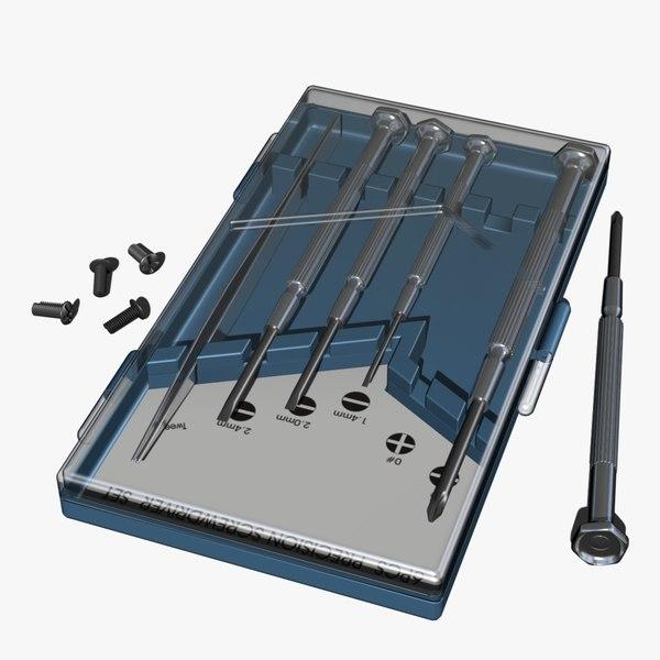 precision screwdriver set obj. Black Bedroom Furniture Sets. Home Design Ideas