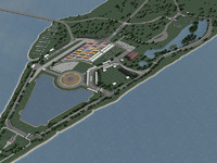 3d model belle isle detroit grand