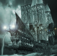 flying dutchman ship pirates obj