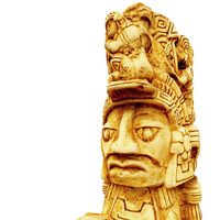 3d model aztec figure replica