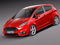 2012 2013 5-door fiesta 3d obj