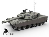 3d korean tank model