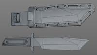 military knife 3d model