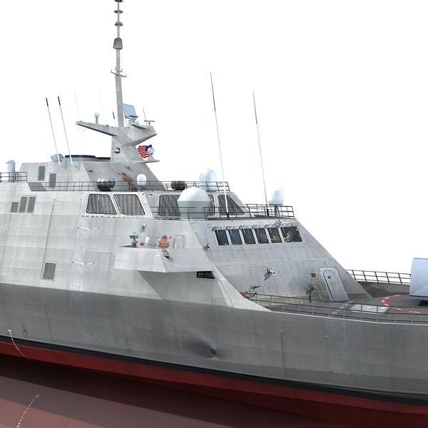3d model uss fort worth lcs - USS Fort Worth LCS 3... by Omegavision