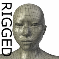 3ds max rigged base mesh asian man