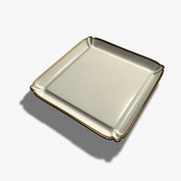 3d model square plate
