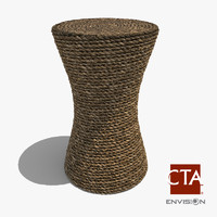 3dsmax coiled rope stool table