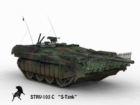 3d model of strv-103 c summer