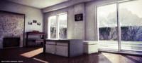 free scene render setup 3d model