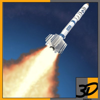 3d model o asat anti-satellite missile