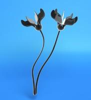 sea lily 3d obj