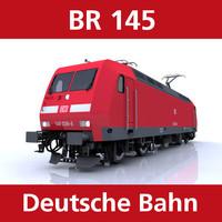 3d model br 145 engine cargo trains