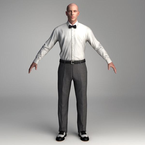 10 low polygon 3d people business 3d model 3ds max c4d