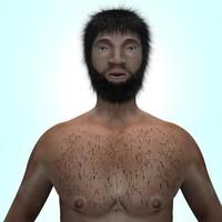 man realistic 3d max