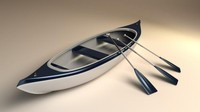 3 person canoe model with paddles