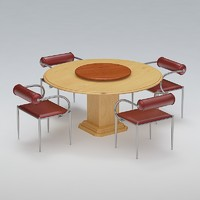 3d chair table set