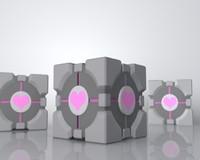 companion cube portal 3d max