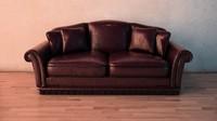 3d old sofa model