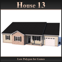 Low Polygon House 13