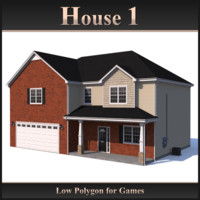 Low Polygon House 1