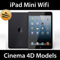 iPad Mini Wifi Black & White C4D
