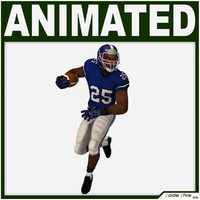 3d model of team player american football