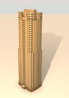 apartment building jumeirah beach 3d 3ds