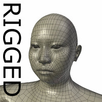 rigged base mesh obese 3d model