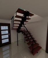 spiral stair 3d model
